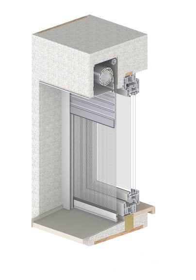 Monoblocco che contiene finestre avvolgibili frangisole - Finestre monoblocco in legno ...