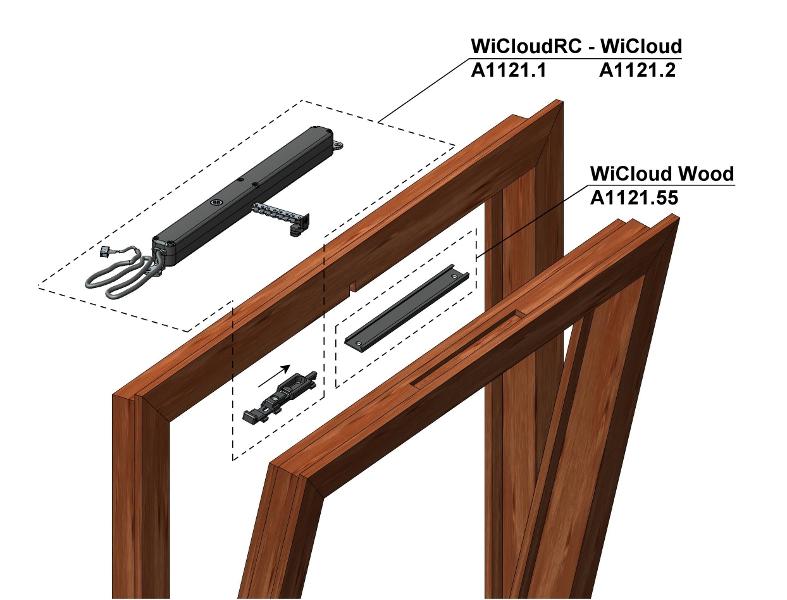 Nuovo invisibile sistema di automazione per le finestre in legno serramenti design - Finestra vasistas meccanismo ...