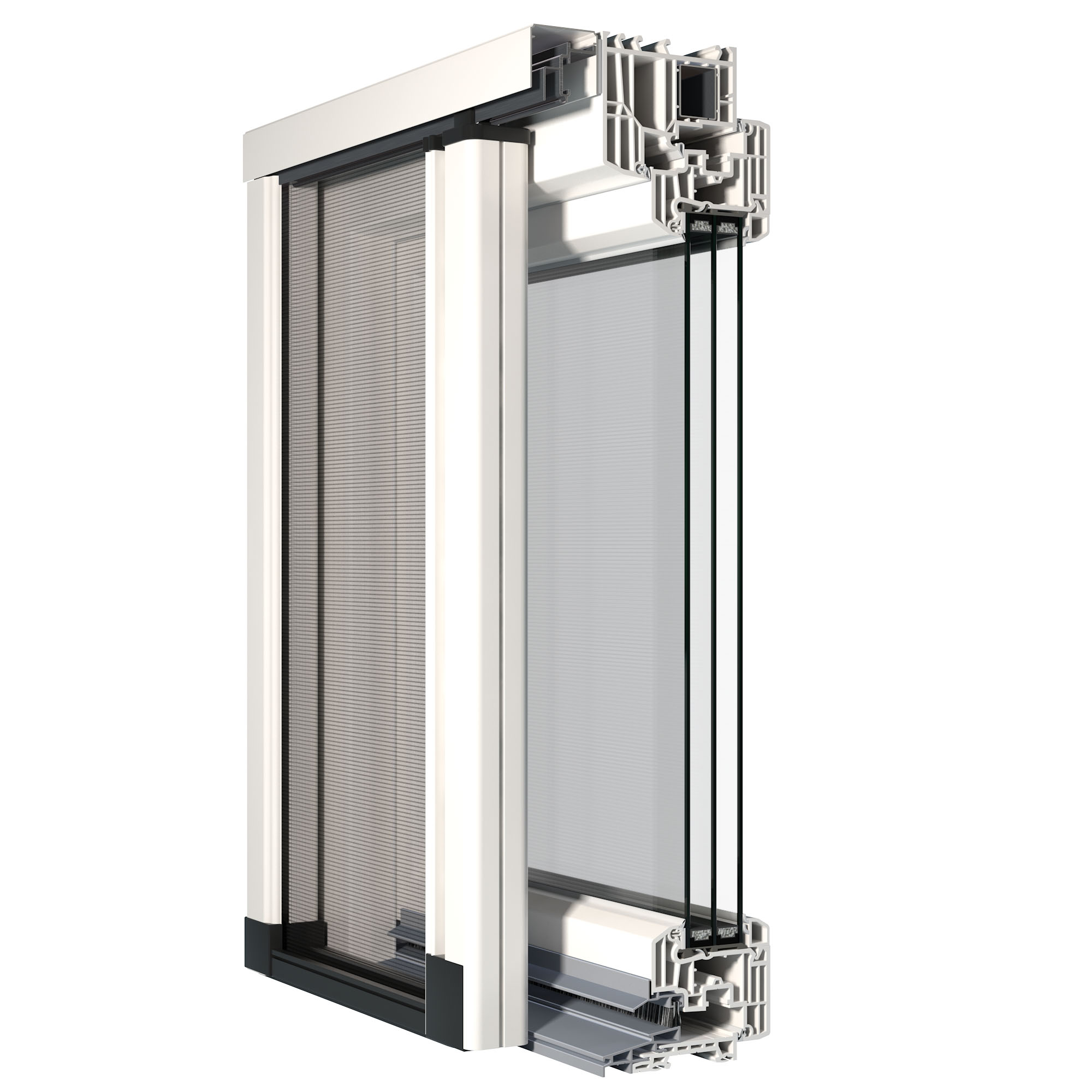 Zanzariere finstral studiato nuovo modello ad - Modelli di zanzariere per porte finestre ...