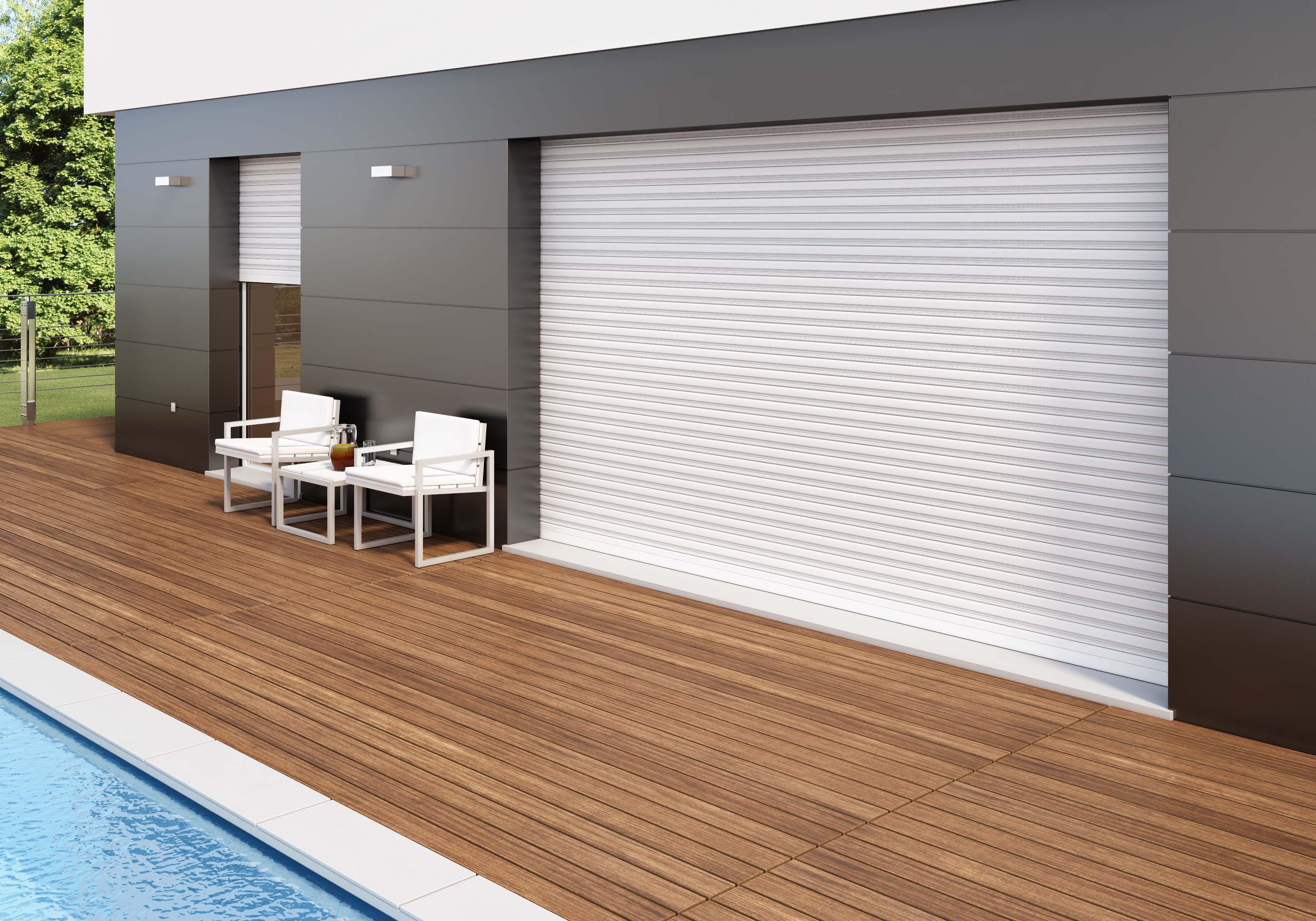Innovativo avvolgibile di sicurezza in alluminio con for Design di finestre moderne per case
