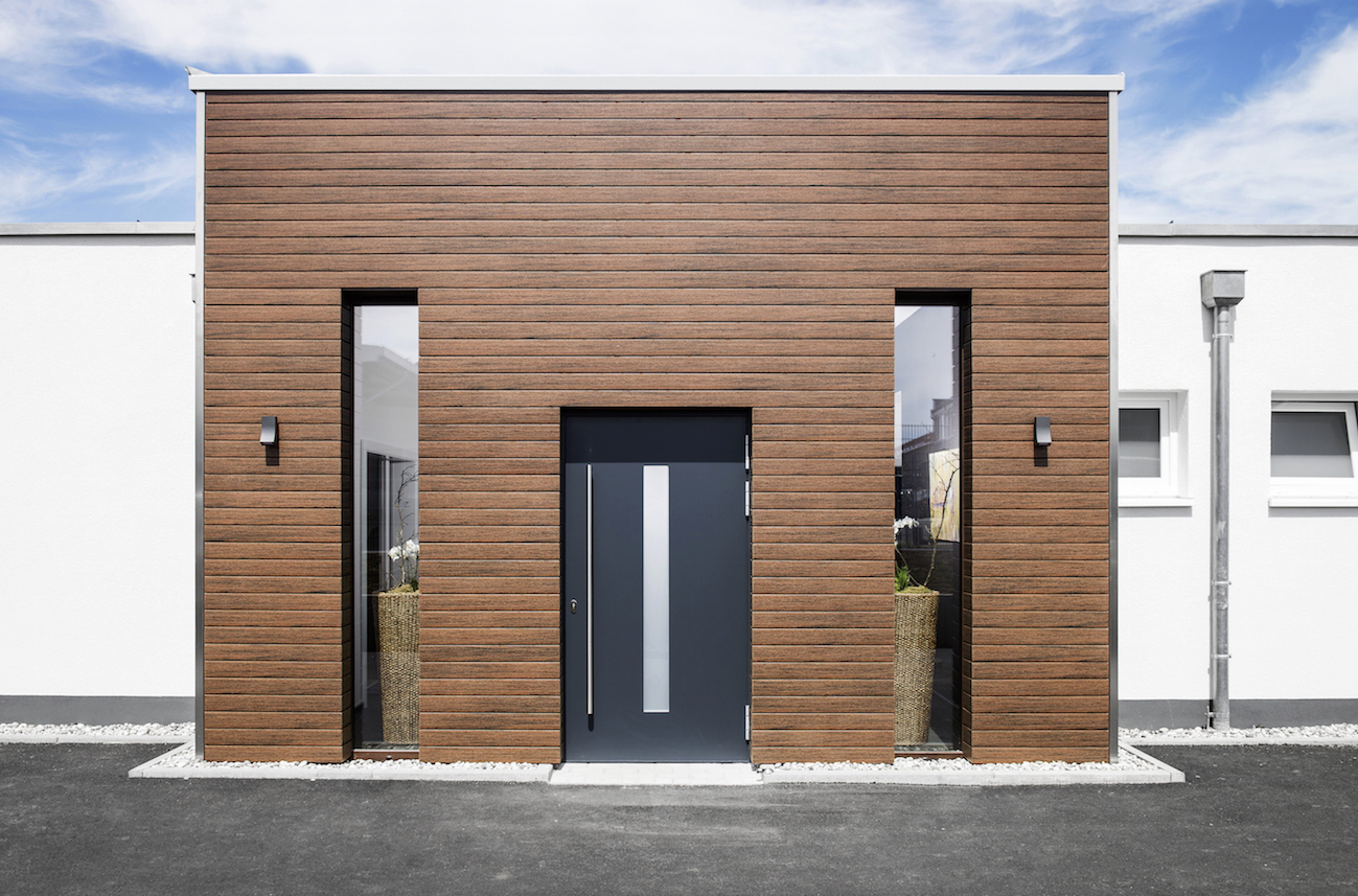 nuova linea di doghe in composito wpc per facciate continue ventilate effetto legno. Black Bedroom Furniture Sets. Home Design Ideas