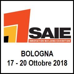 Logo SAIE 2018 Tecnologie per l'edilizia e l'ambiente costruito
