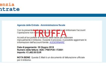 Rimborsi fiscali: attenzione alle e-mail truffa. Agenzia raccomanda di cestinare false comunicazioni