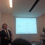 IlIl proff Carmine Garcia nel corso della presentazione del rapporto dell' Osservatorio sul Vetro Piano