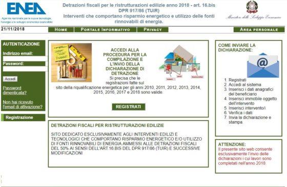Bonus casa: online il portale Enea per le detrazioni fiscali