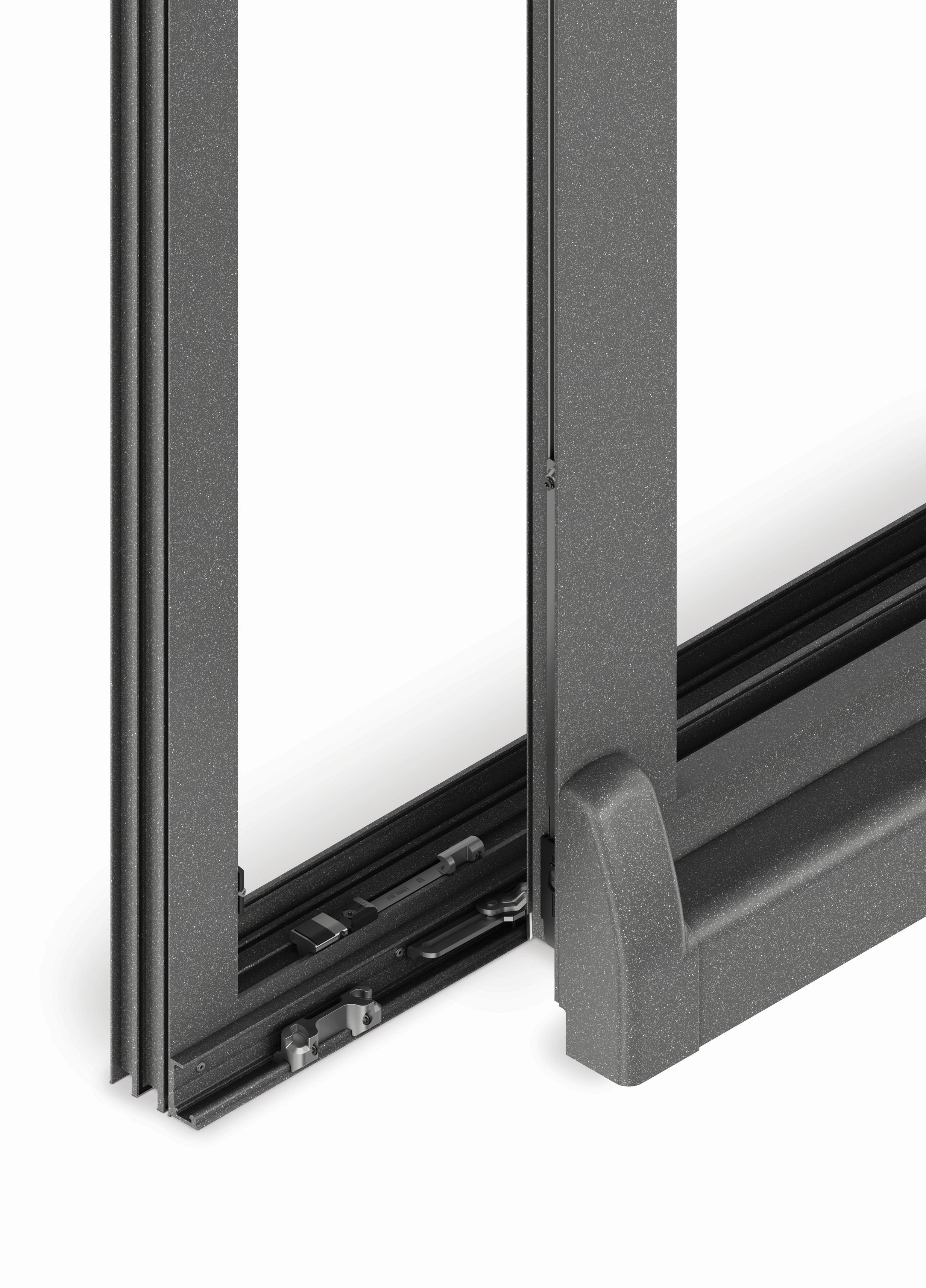 Nuovo sistema a vasistas scorrevole specifico per infissi in alluminio serramenti design - Meccanismo porte scorrevoli ...