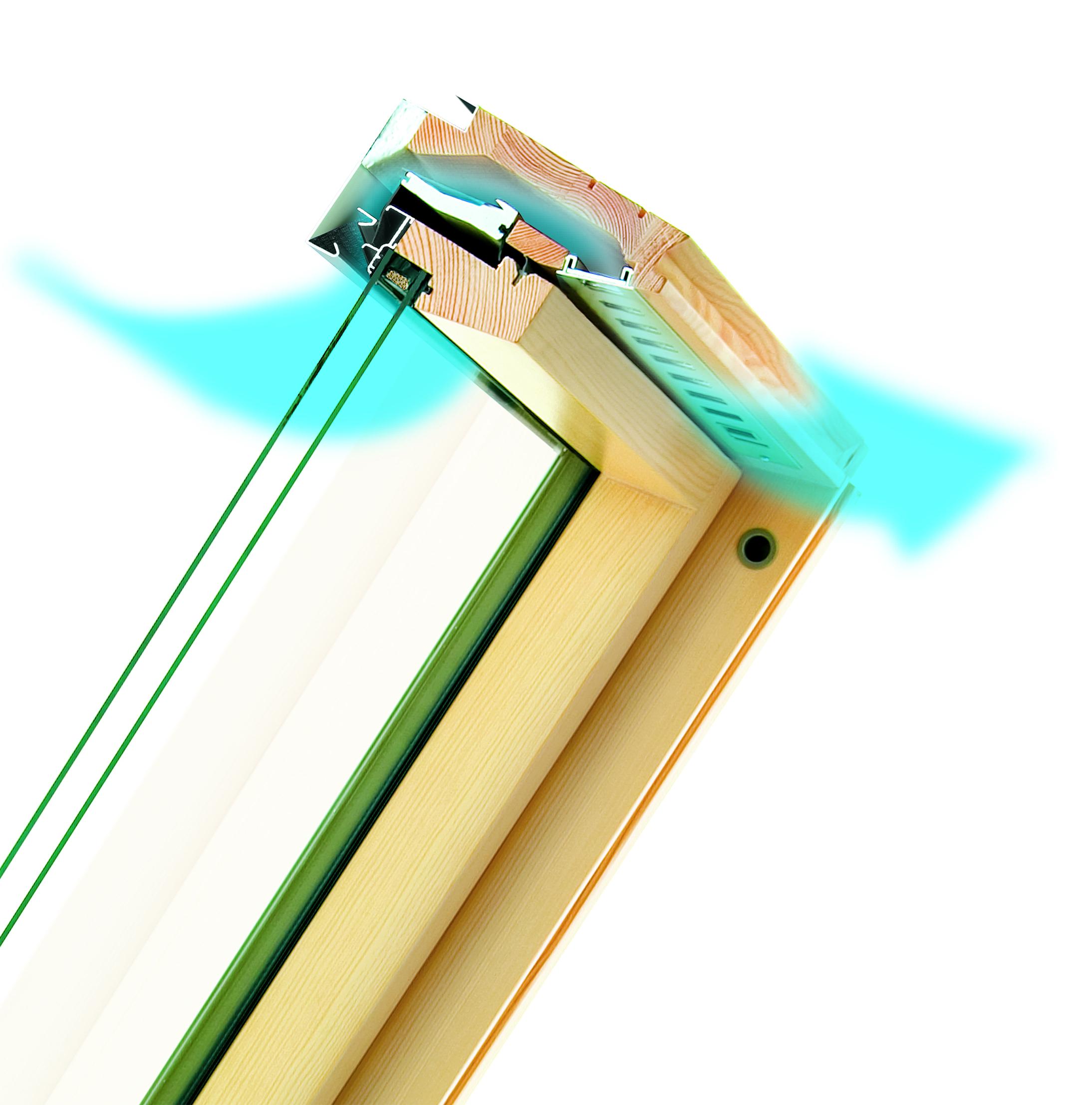 Efficace sistema di ventilazione automatico integrabile for Finestra nel tetto