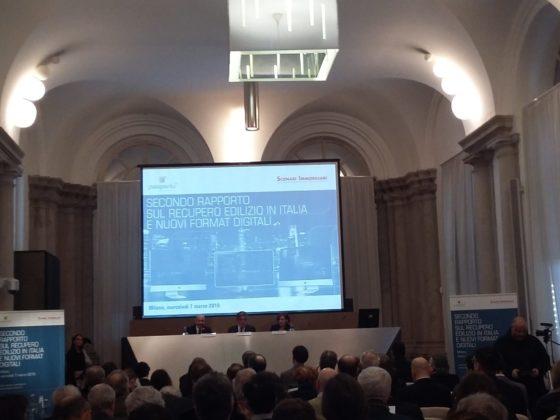 """Investire nella ristrutturazione conviene. A rimarcarlo il """"Secondo Rapporto sul recupero edilizio in Italia e nuovi format digitali"""" presentato ieri a Milano"""