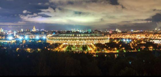 lo stadio nazionale Luzhnik a Mosca