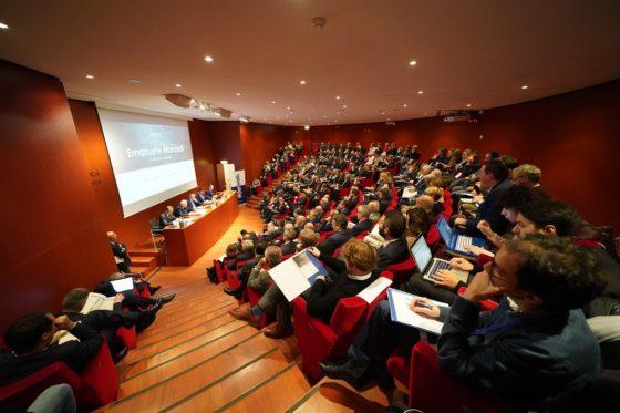 Un momento della presentazione della 10a edizione dello studio Bilanci D'acciaio