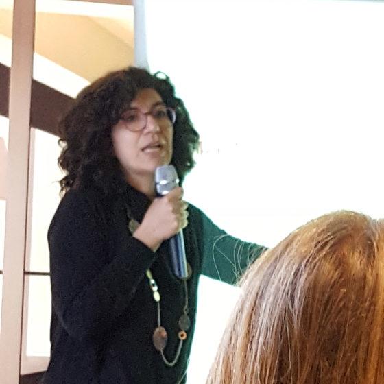 Daniela Petrone nel corso dell'incontro BT group su edilizia libera