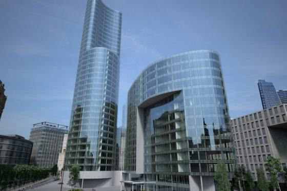 Stopray Vision Nell'immagine, il complesso di Office building Warsaw Spire in Polonia, le cui facciate sono state realizzate con la gamma di vetri selettivi Stopray