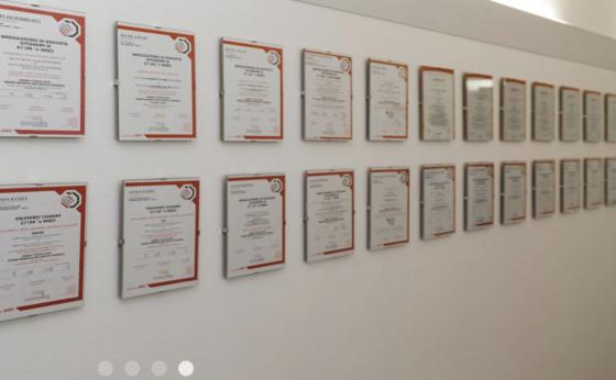 Certificazioni rilasciate a Catas SpA