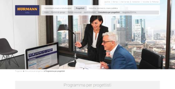 """Online versione """"Programma per Progettisti"""" Hörmann con modelli BIM"""