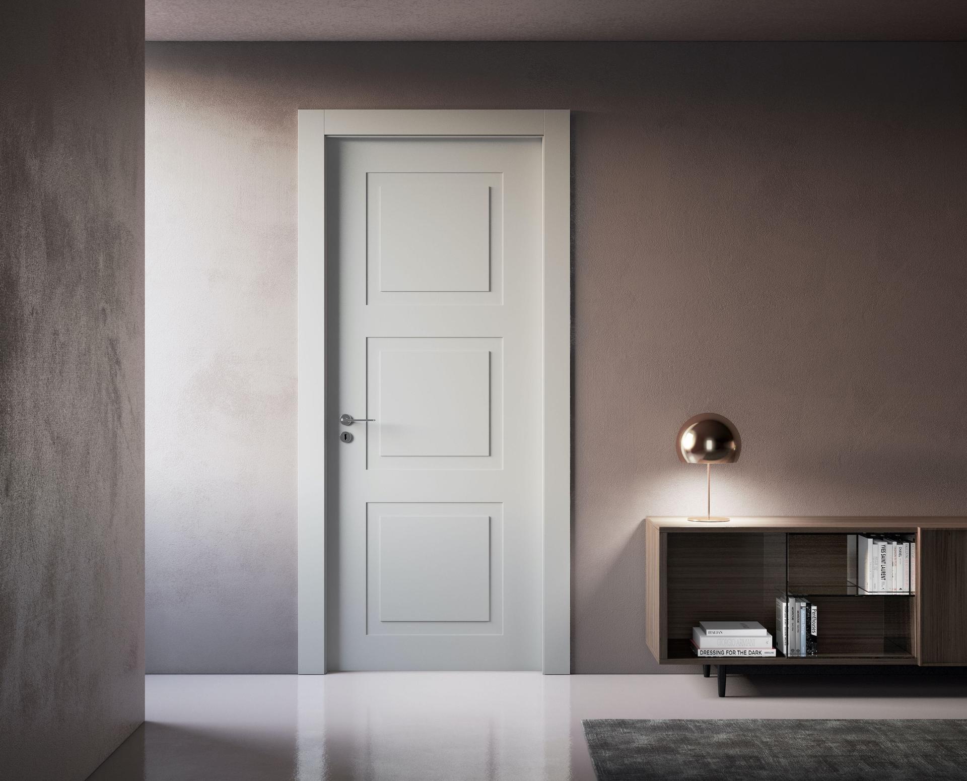 Porta A Libro Asimmetrica venus, summa prototipale di porta in legno laccata