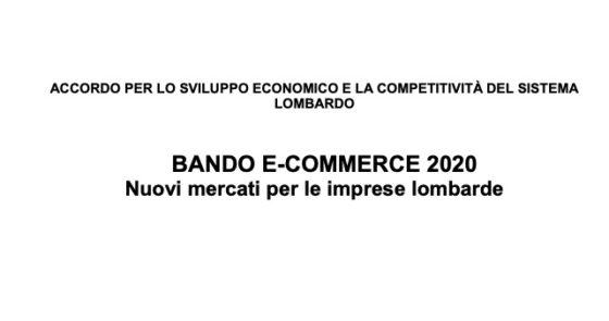 E-Commerce. Contributi a fondo perso per le imprese lombarde