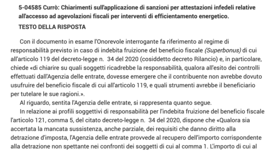 Errata conformità cessione Superbonus? Beneficiario e fornitori i primi a risponderne