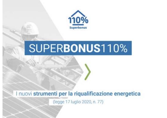 Detrazione del 110%. Diffuse da ENEA le FAQ relative al Superecobonus