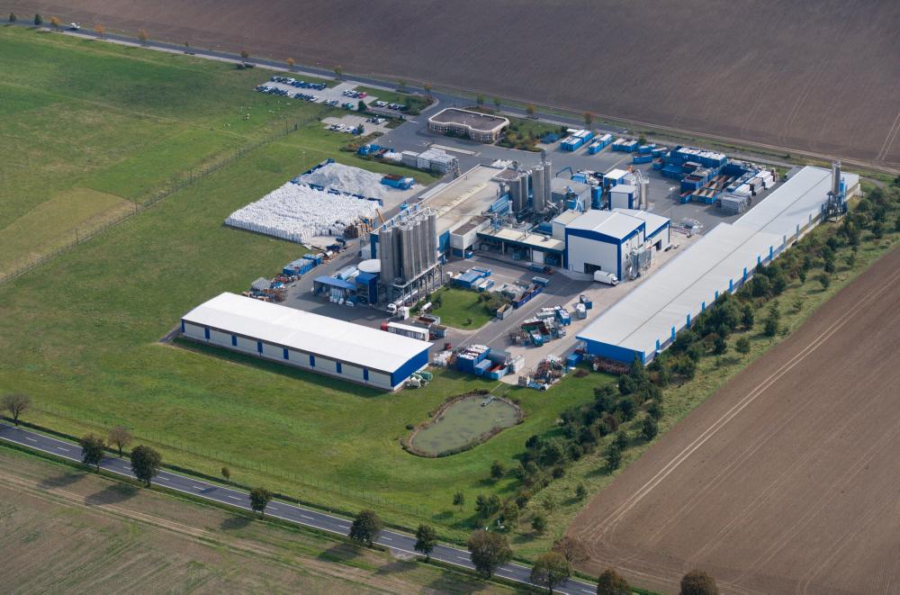 L'impianto di riciclaggio del PVC Veka in Germania