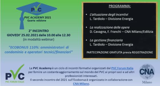 Webinar PVC Academy 2021, focus su Ecobonus al 110%