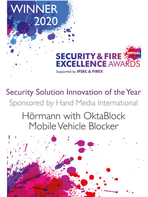 "Hörmann si aggiudica il  ""Security & Fire Excellence Award 2020"""