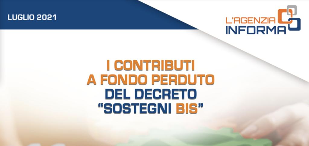 """Guida ai contributi a fondo perduto del decreto """"Sostegni Bis"""""""