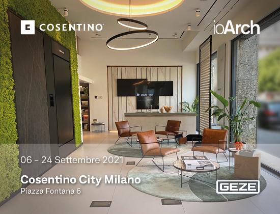 GEZE Italia al Fuori Salone di Milano nello spazio Cosentino City